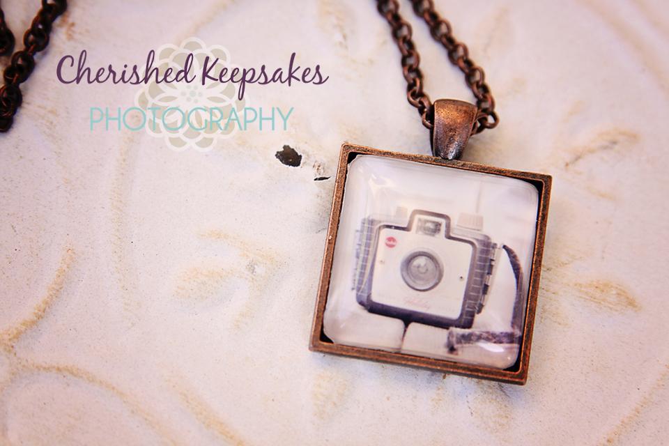 Retro Camera Series #1 Glass Pendant Necklace